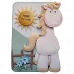 If Wishes Were Horses Shaped Fold Card - front with sentiment 1