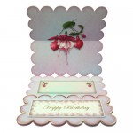 Elegant Fuchsias Square Scalloped Easel Card - inside view