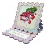 Elegant Fuchsias Square Scalloped Easel Card - view 2