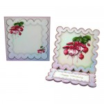 Elegant Fuchsias Square Scalloped Easel Card - finished set