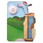Crazy for Golf Shaped Fold Card - front view