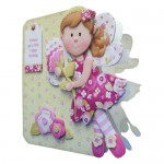 Flower Fairy Shaped Fold Card - view 2
