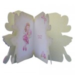 Flower Fairy Shaped Fold Card - inside view