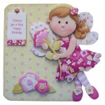 Flower Fairy Shaped Fold Card - view 1