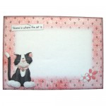 Purrfect For Me Assymetric Shaped Fold Card - envelope front