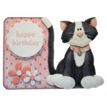 Purrfect For Me Assymetric Shaped Fold Card - front version 2