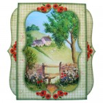 Cottage View 7x7 Bracket Edge Shadow Box Fold Card - view 1