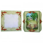 Cottage View 7x7 Bracket Edge Shadow Box Fold Card - set