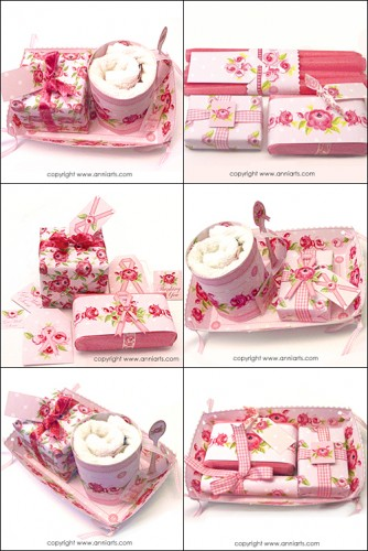 Think Pink Folk Roses Gift Tray