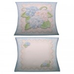 Shabby Chic Hydrangeas Gift Set - pillow box front & back