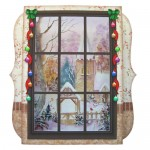 Winter Church Window 7x7 Shadow Box Fold Card - view 1