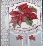 Poinsettia Gatefold Card Merry Christmas