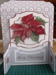 Poinsettia Gatefold Card