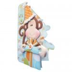 Cheeky Birthday Monkey Shaped Fold Card - view 2