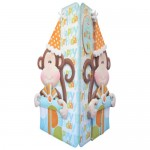 Cheeky Birthday Monkey Shaped Fold Card - back view