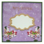 Christmas Carousel Wavy Edged Round Easel Duo Card - envie front