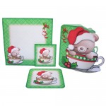 A Christmas Hug in a Mug Shaped Fold Card - finished set