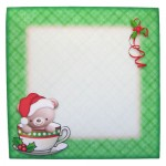 A Christmas Hug in a Mug Shaped Fold Card - envelope front