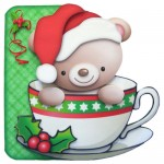 A Christmas Hug in a Mug Shaped Fold Card