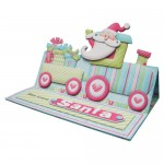 Santa's Train Over the Top Easel Card - view 2
