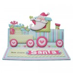 Santa's Train Over the Top Easel Card - view 1
