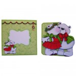 A Beary Merry Kiss-mas Shaped Fold Card - finished set