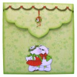 A Beary Merry Kiss-mas Shaped Fold Card - envelope back