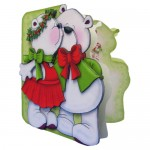 A Beary Merry Kiss-mas Shaped Fold Card - view 2