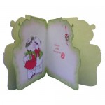 A Beary Merry Kiss-mas Shaped Fold Card - inisde view