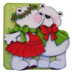 A Beary Merry Kiss-mas Shaped Fold Card - view 1