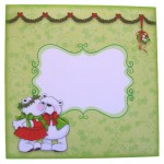 A Beary Merry Kiss-mas Shaped Fold Card - envelope front
