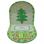 Oh Christmas Tree Plate Card/Plate Easel Duo Kit - easel inside