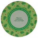 Oh Christmas Tree Plate Card/Plate Easel Duo Kit - plate back