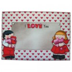 Love Shaped Tri Fold Card - envelope front