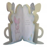 A Bunny Hug in a Mug Shaped Fold Card - inside view