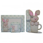 A Bunny Hug in a Mug Shaped Fold Card - finished set