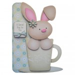 A Bunny Hug in a Mug Shaped Fold Card - view 1