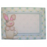 A Bunny Hug in a Mug Shaped Fold Card - envelope front
