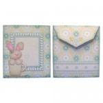 A Bunny Hug in a Mug Shaped Fold Card - free teabag wrapper