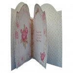 Antique Roses Round Topped Fold Card Kit - inside view
