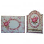 Antique Roses Round Topped Fold Card Kit - finished set