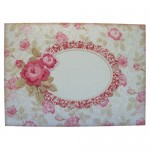 Antique Roses Round Topped Fold Card Kit - envelope front