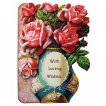Rose Vase Shaped Fold Card - view 1