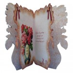 Rose Vase Shaped Fold Card - inside view
