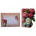 Rose Vase Shaped Fold Card - finished set
