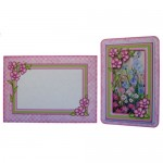 Meadow Flowers Rounded Corner Fold Card - finished set