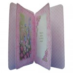 Meadow Flowers Rounded Corner Fold Card - inside view