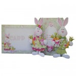 Bunnies 4-Fold Over The Edge Shaped Card - finished set