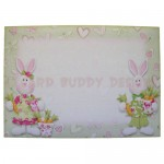 Bunnies 4-Fold Over The Edge Shaped Card - envelope front
