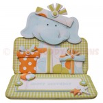 Birthday Elephant Over The Top Easel Card - view 1